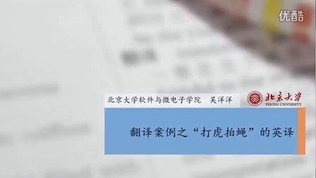 """翻译案例-""""打虎拍蝇""""英译"""