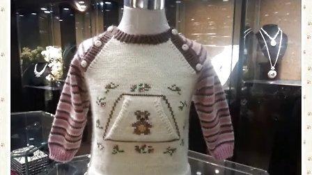 依可爱纯手工编织教程--田园风斜肩巧色套衫2花样