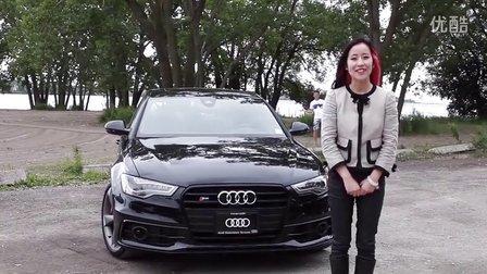 华人美女加拿大试驾评测 2014 奥迪S6