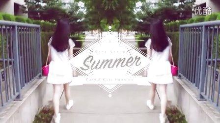 【梁吉娜】夏日简单可爱淑女发型|花瓣刘海