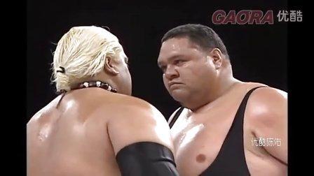 WWE 乌索兄弟父亲战日本曙太郎 Rikishi vs akebono 双打赛