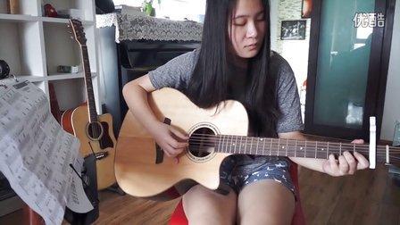 学员弹唱 无与伦比的美丽 东城西城朝阳吉他培训班  红橘子吉他培训中心