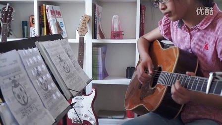 学员弹唱 夜空中最亮的星 朝阳东城丰台大兴学吉他 红橘子吉他培训中心