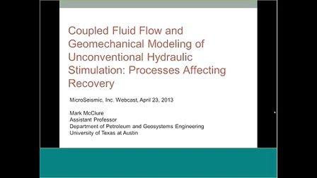 非常规水力压裂的耦合流动和地质力学建模-影响采收率的过程-MSI