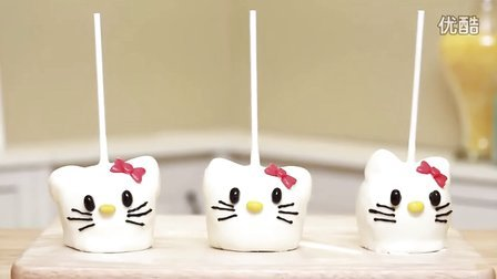 [Rosanna Pansino] HELLO KITTY CARAMEL APPLES - NERDY NUMMIES - ♥Kitty猫焦糖苹果♥