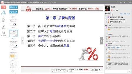 14年11月人力资源管理师二级(第三版)第6讲招聘与配置02借光网课视频课程