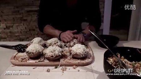 Greg Plitt 141 - 格雷格的烹饪书 6块贝洛蘑菇