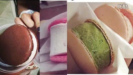 {sitongliu}香港Ding Ding 教做馬卡龍雪糕漢堡韩国最热小吃 (마카롱아이스크림)