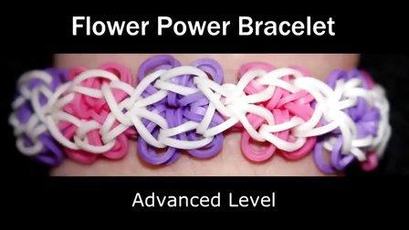 16 Rainbow Loom® 花的能量手链彩虹织机手链视频教程