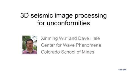 不整合面的三维地震图像处理