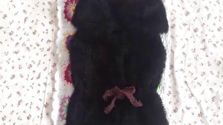 44集仿皮草束腰马甲缝合及领子的编织方法小米的编织小屋编织花样集锦