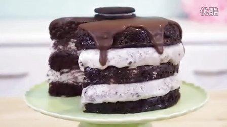 美女教你做奥利奥冰淇淋蛋糕 How to Make Oreo Ice Cream Cake!