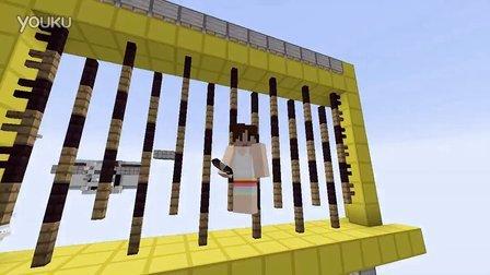 Minecraft我的世界《明月庄主》红石教程珠帘门,菊花门,