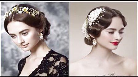 2014韩式新娘水波推纹盘发造型 盘发设计 化妆盘发教学 编发步骤