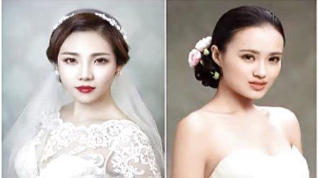 最全的新娘盘发发型教程 自学化妆师 盘发编发视频