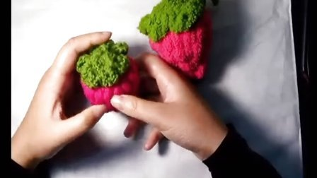 【M猫线团】手工课堂----草莓的钩织(上)