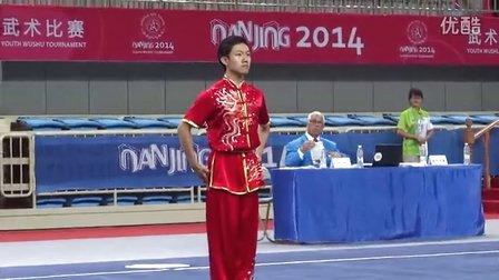 南京2014武术比赛 男子长拳 CHN 中国 WU Zhong 吴忠 9.60