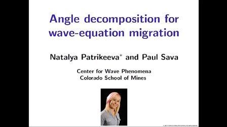 波动方程偏移的角度分解