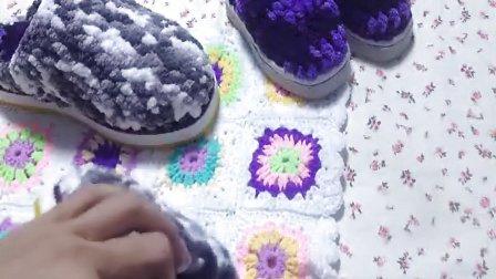 53集冰条线拖鞋鞋面钩针教程长针小米的编织小屋视频全集