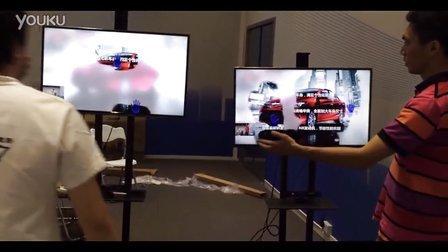 [原创]2014 一汽丰田双Kinect擦玻璃PK游戏