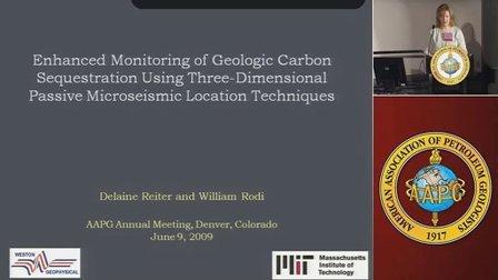 利用三维被动微地震定位技术监测二氧化碳CO2地质封存-MIT
