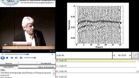 振幅和相位在地震数据处理和反演中的角色