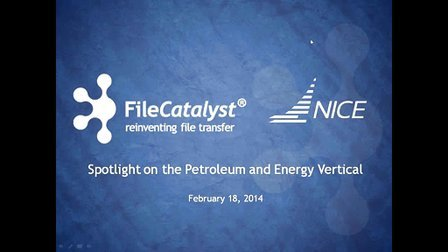 Webinar- Focus on Petroleum and Energy (featuring NICE Software)