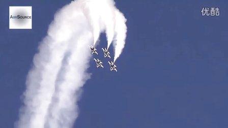 超精彩美国雷鸟飞行表演队展绝技2014内利斯航空展