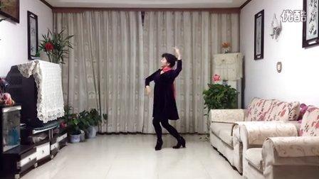 风中梅花广场舞系列:蓝色马莲花