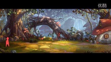 饭糕网原画第2期 游戏场景教学 森林背景 破碎的蓝老师 Y0215