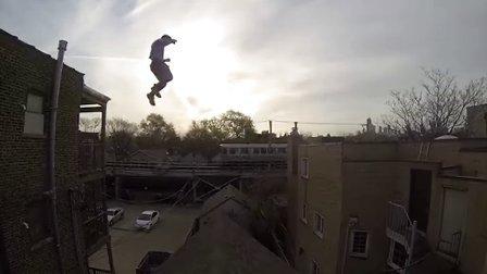GoPro:屋顶飞人