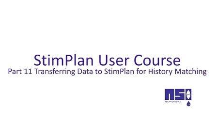 第11课 数据转换至StimPlan进行历史拟合