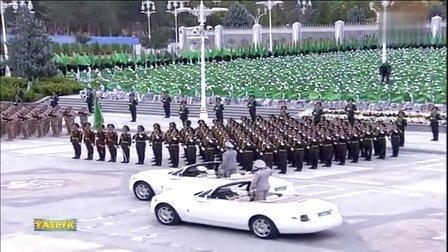 2014年10月27日土库曼斯坦庆祝国家独立23周年阅兵式
