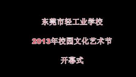 东莞市轻工业学校2014-1-5校园文化艺术节开幕式