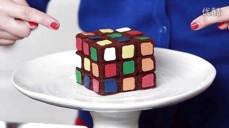 【大吃货爱美食】RUBIKS魔方 布朗尼蛋糕 141127