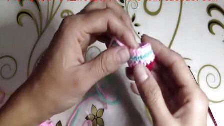 77集圈织帽子宝宝鞋玩偶换线的方法完美条纹织法图解视频教程