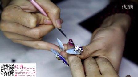 【武汉经典美甲学校】2015最新流行美甲一分钟蝴蝶制作视频