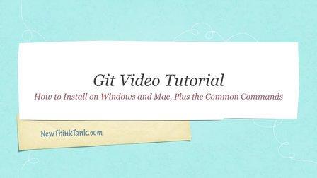 Git Video Tutorial