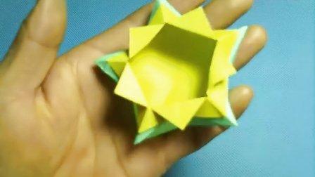 折纸王子大全 简单折纸 折纸王子教你如何折五角形盒子