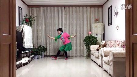 风中梅花广场舞系列:北京的金山上