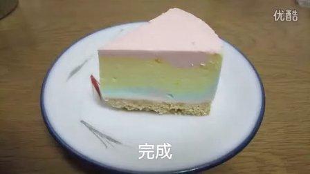 【虹色菓子】虹色チーズケーキ作ってみた【色んな意味でレア】