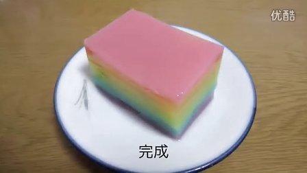【虹色菓子】虹色ようかん作ってみた【水羊羹】