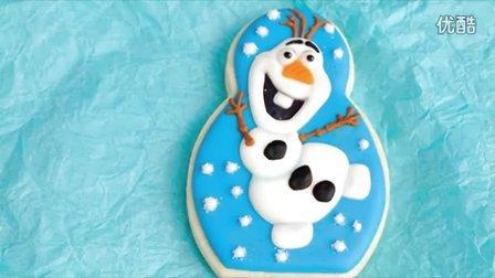 分享篇--冰雪奇缘中雪宝造型糖霜饼干  HANIELA'S