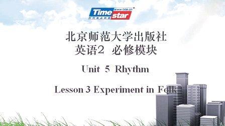 北师大版高中英语高一下Unit5 Rhythm Lesson3 Experiment in folk