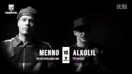 【粉红豹】bboy Menno vs Alkolil _半决赛_ Undisputed 2014