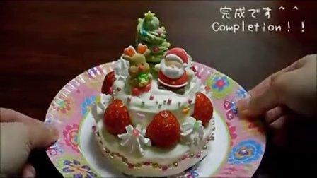 【大吃货爱美食】小巧可爱双层圣诞蛋糕 141217