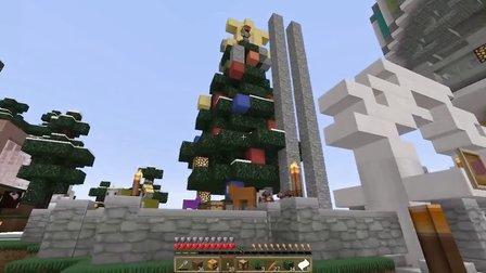 我的世界Minecraft【大橙子】鬼鬼的1.8领域服-第24集-和雨伞一起做圣诞树~