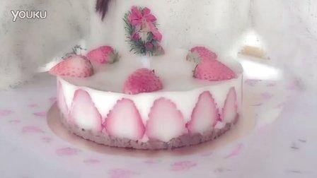 芝士草莓冻蛋糕教程