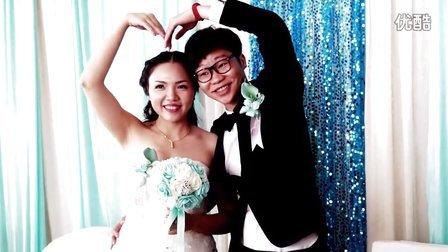 这里是爱情的海洋蓝色之恋华艺婚庆104龙信