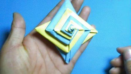 折纸王子教你折陀螺纸花球